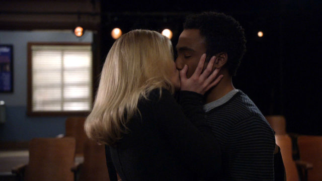 Troy and Britta Kiss