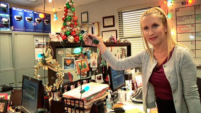 Angela's Office Christmas Tour
