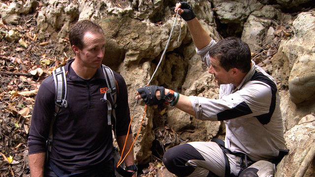 Drew Brees and Bear Grylls Capture a Crocodile