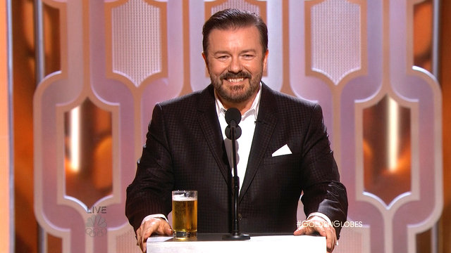 Ricky Gervais Opens the 2016 Golden Globes