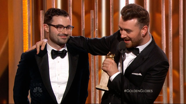 Sam Smith Wins Best Original Song at the 2016 Golden Globes