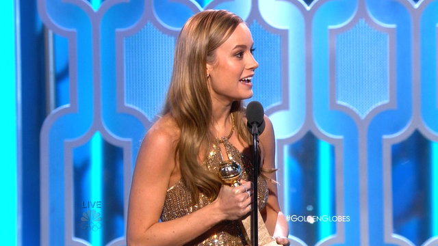 Brie Larson Wins Best Actress in a Drama at the 2016 Golden Globes
