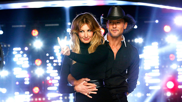 Tim and Faith on The Voice!
