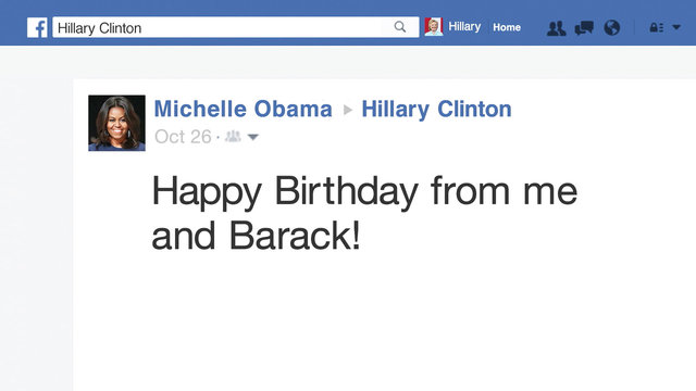 Hillary Clinton's Facebook Birthday Messages