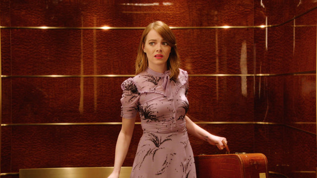 Emma Stone Has Elevator Trouble