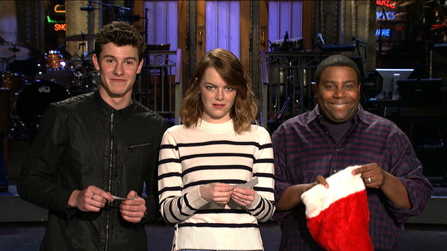 Emma Stone, Shawn Mendes and Kenan Thompson Play Secret Santa