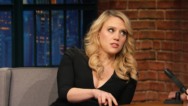 Kate McKinnon Kept Fit with Trash Walks on the Office Christmas Party Set