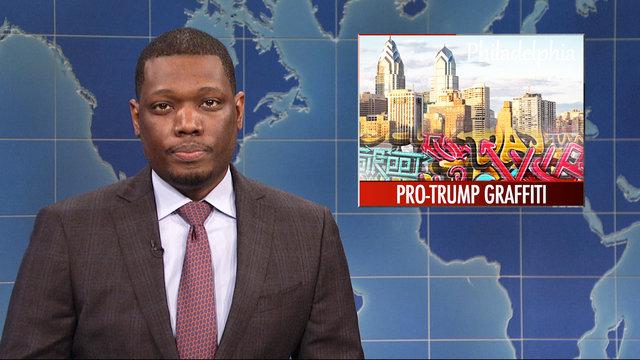 Weekend Update on Pro-Trump Graffiti Artist's Arrest