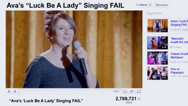 """Ava's """"Luck Be a Lady"""" Fail"""