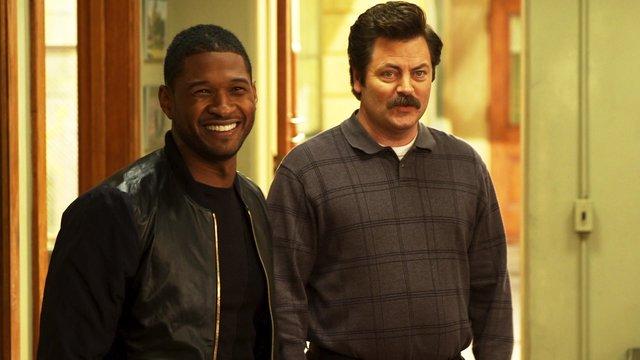 "Usher Visits ""Parks and Rec"""
