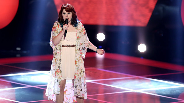 "Caitlin Michele's Blind Audition: ""Cosmic Love"""