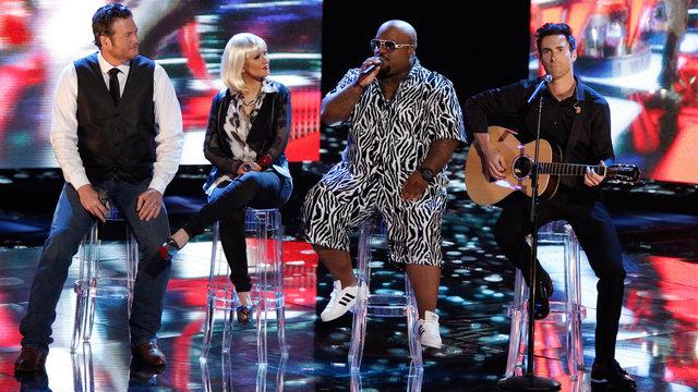 """Blake, Christina, CeeLo and Adam: """"Good Riddance (Time of Your Life)"""""""
