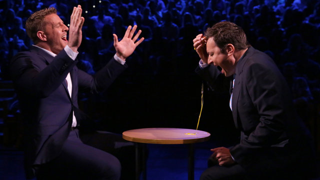 Egg roulette jimmy fallon seth meyers