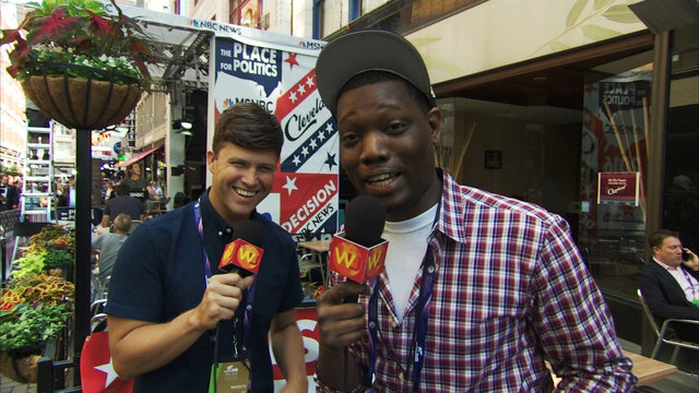 Colin Jost and Michael Che Hit The Streets of Cleveland