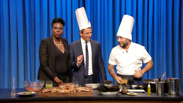 Leslie Jones and Seth Make Seafood with Carlo Mirarchi