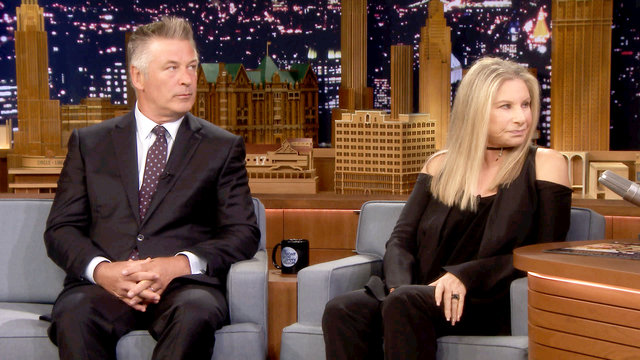 Barbra Streisand and Alec Baldwin