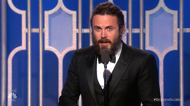 Casey Affleck Wins Best Actor in a Drama at the 2017 Golden Globes