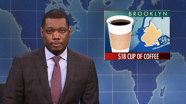 Weekend Update on a $18 Cup of Coffee