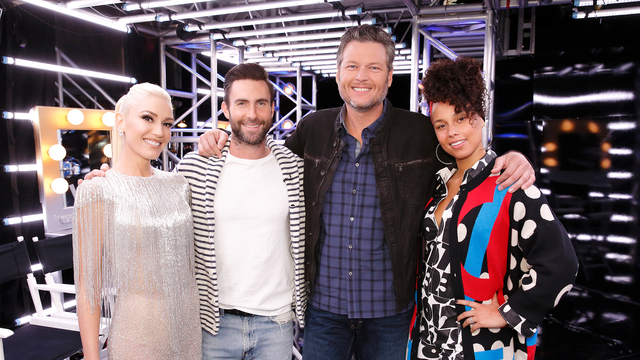 The Voice Coaches Perform Waterfalls