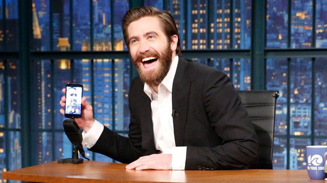 Jake Gyllenhaal and Ryan Reynolds FaceTime on Late Night