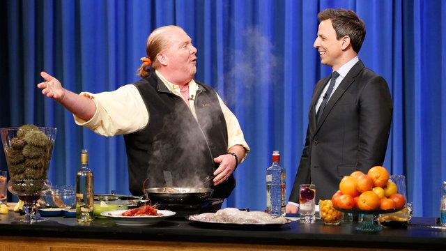 Mario Batali Shows Seth How to Make Seafood Tapas