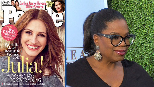 Weekend Roundup: Julia Roberts' 'Most Beautiful' Title & Oprah The Re-Gifter