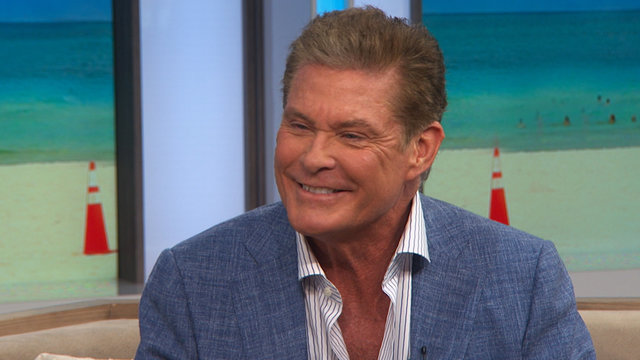 David Hasselhoff Plays Access Hollywood Live's 'Spin The Bottle'
