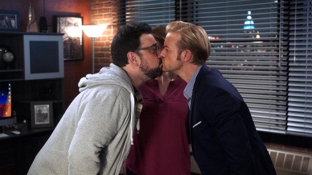 Greg Hands Out Kisses