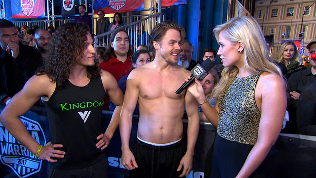 Derek Hough's M&M's Post-Run Interview