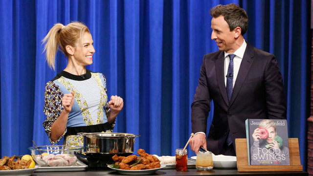 Jessica Seinfeld and Seth Make Vice Fried Chicken and Virtuous Wings