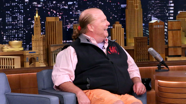 Mario Batali Makes Yearly Visits to His Stuff Yer Face Shrine in New Jersey