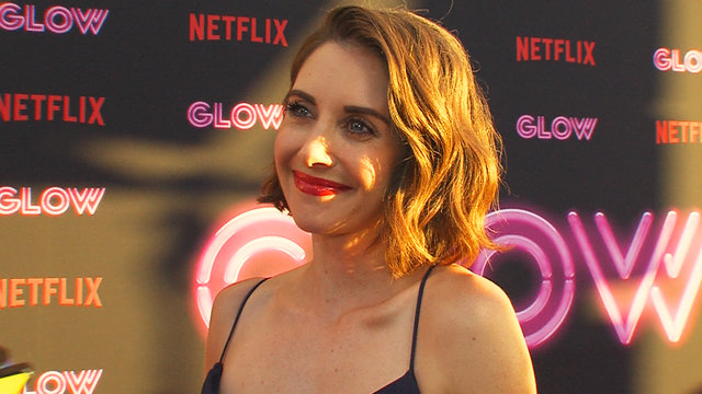 'GLOW': Alison Brie Weighs The Pros & Cons Of The '80s Perm & Leotard