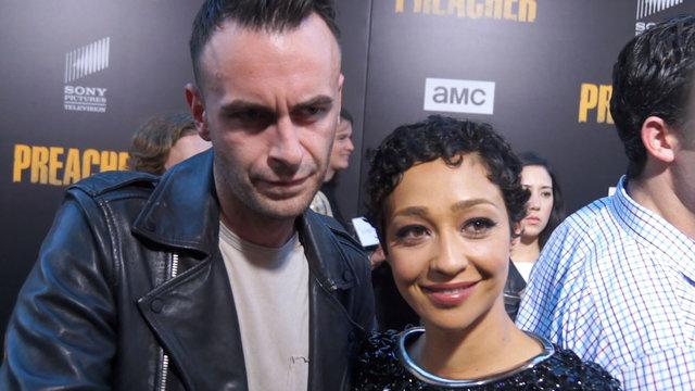 Joseph Gilgun & Ruth Negga Talk On-Set Cast Bonding On 'Preacher' Season 2