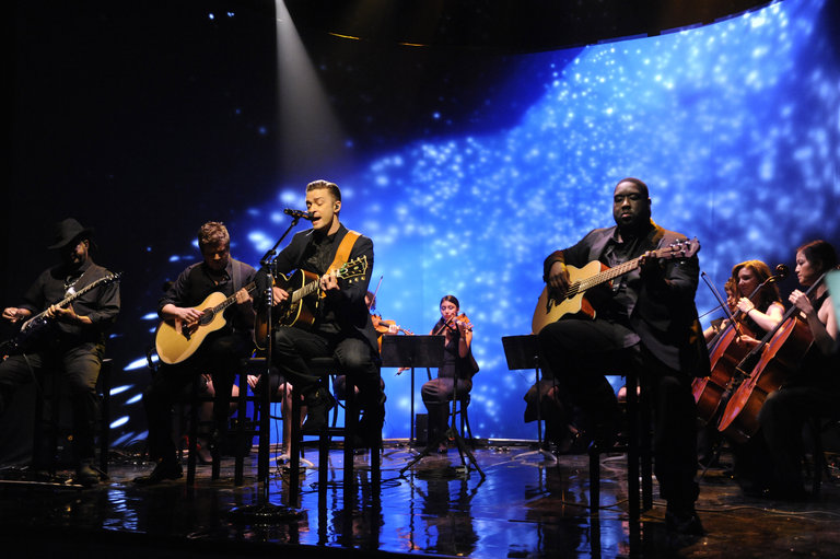 Musical guest Justin Timberlake performs on episode 1651 of Saturday Night Live on December 21, 2013.