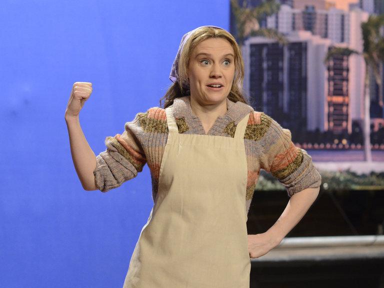 "Kate McKinnon in ""Nancy Grace"" on Saturday Night Live on January 18, 2014."
