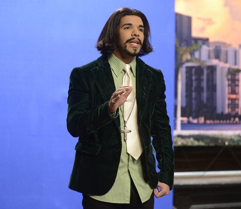 "Drake as Katt Williams in ""Nancy Grace"" on Saturday Night Live on January 18, 2014."