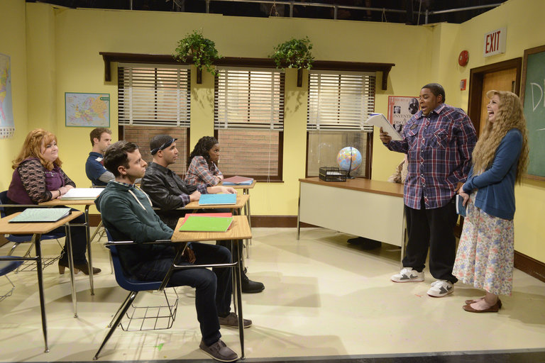 """Poetry Teacher"" on Saturday Night Live on January 18, 2014."