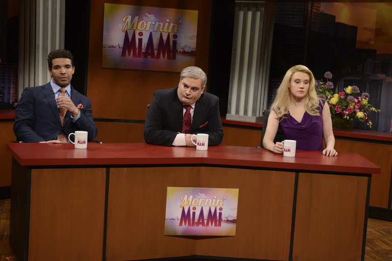 """Mornin' Miami"" on Saturday Night Live on January 18, 2014."