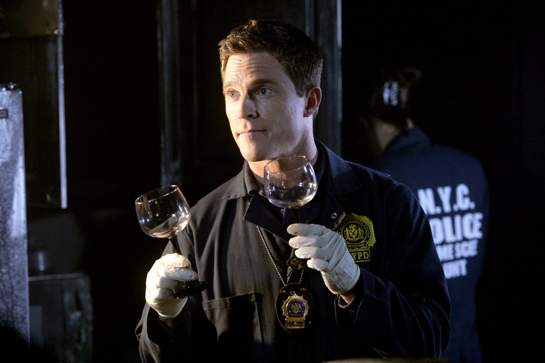 """LAW & ORDER: SPECIAL VICTIMS UNIT -- """"Trade"""" Episode 918  -- Pictured: Mike Doyle as Forensics Tech Ryan O'Halloren -- NBC Photo: Virginia Sherwood"""