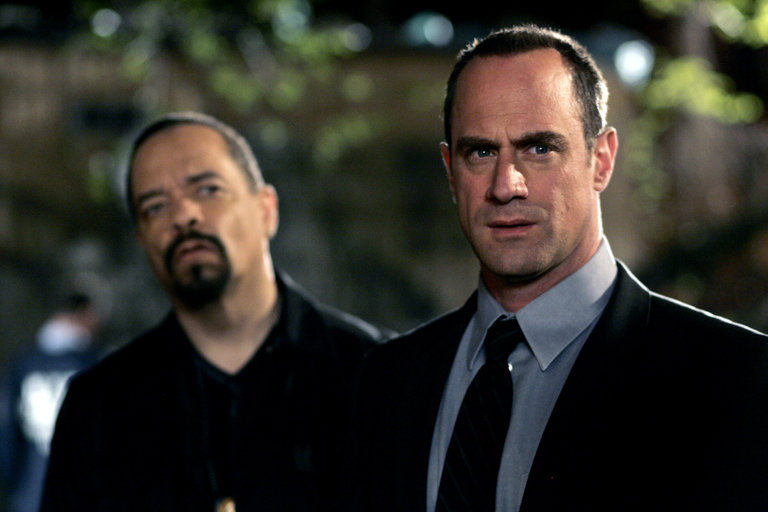 "LAW & ORDER: SPECIAL VICTIMS UNIT -- ""Cold"" Episode 919 -- Pictured: (l-r) Ice-T as Det. Odafin ""Fin"" Tutuola, Christopher Meloni as Det. Elliot Stabler -- NBC Photo: Will Hart"
