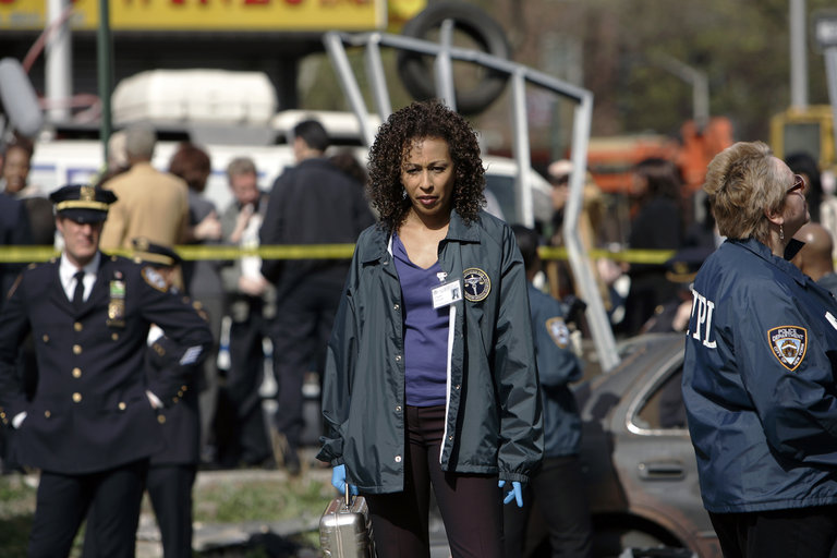 "LAW & ORDER: SPECIAL VICTIMS UNIT -- ""Cold"" Episode 919 -- Pictured: Tamara Tunie as Dr. Melinda Warner -- NBC Photo: Will Hart"