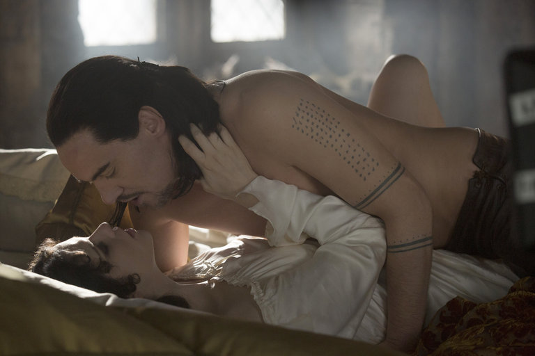 Pictured: (l-r) Jessica De Gouw as Ilona, Jonathan Rhys Meyers as Vlad Tepes -- (Photo by: David Lukacs/NBC)