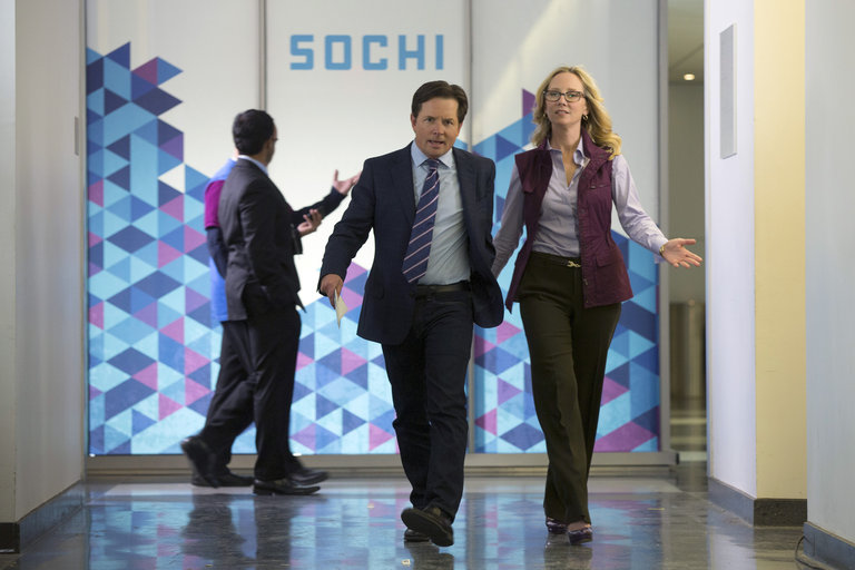 Pictured: (l-r) Michael J. Fox as Mike Henry, Anne Heche as Susan R. Jones -- (Photo by: Eric Liebowitz/NBC)