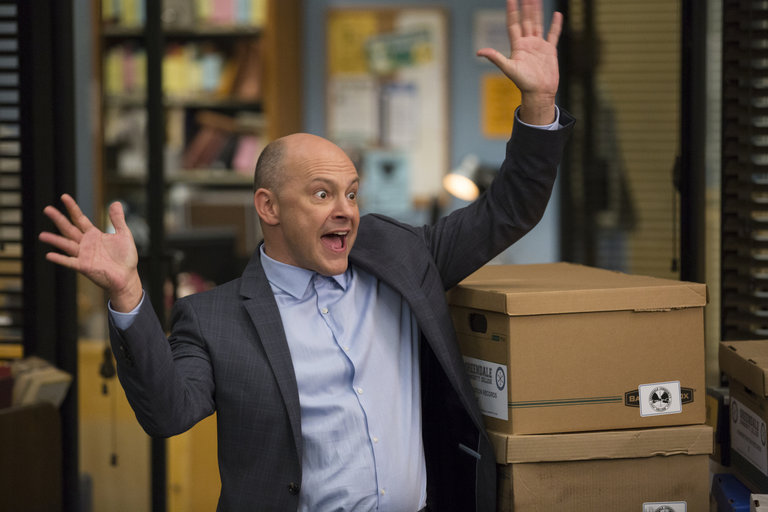 """COMMUNITY -- """"Repilot"""" Episode 501 -- Pictured: Rob Corddry as Alan Connor"""