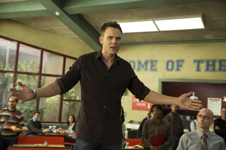 "COMMUNITY -- ""Introduction to Teaching"" Episode 502 -- Pictured: Joel McHale as Jeff WInger"