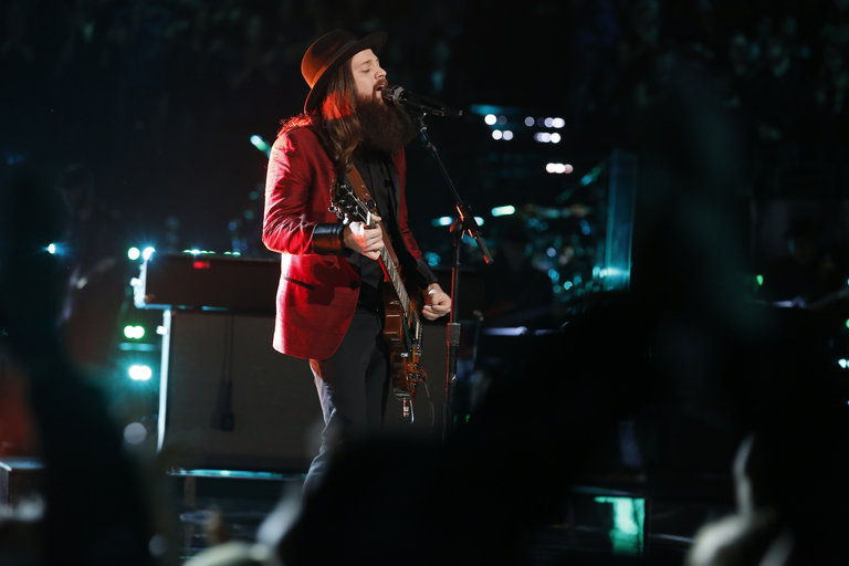 """THE VOICE -- """"Live Show"""" Episode 517A -- Pictured: Cole Vosbury -- (Photo by: Trae Patton/NBC)"""