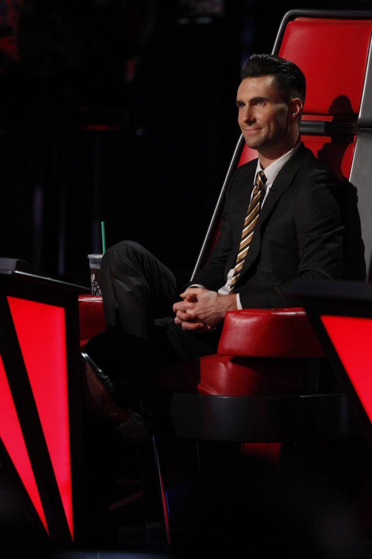 "THE VOICE -- ""Live Show"" Episode 517A -- Pictured: Adam Levine -- (Photo by: Trae Patton/NBC)"
