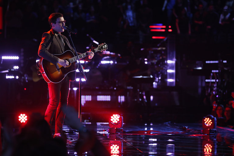 "THE VOICE -- ""Live Show"" Episode 517A -- Pictured: James Wolpert -- (Photo by: Trae Patton/NBC)"
