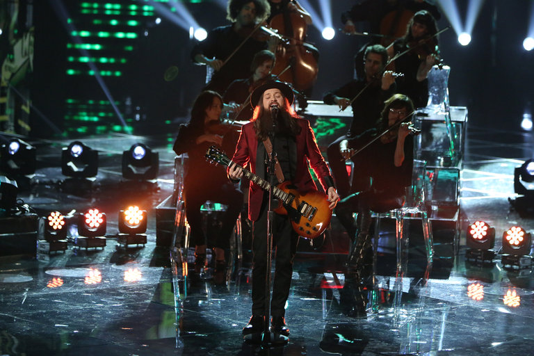"THE VOICE -- ""Live Show"" Episode 517A -- Pictured: Cole Vosbury -- (Photo by: Tyler Golden/NBC)"