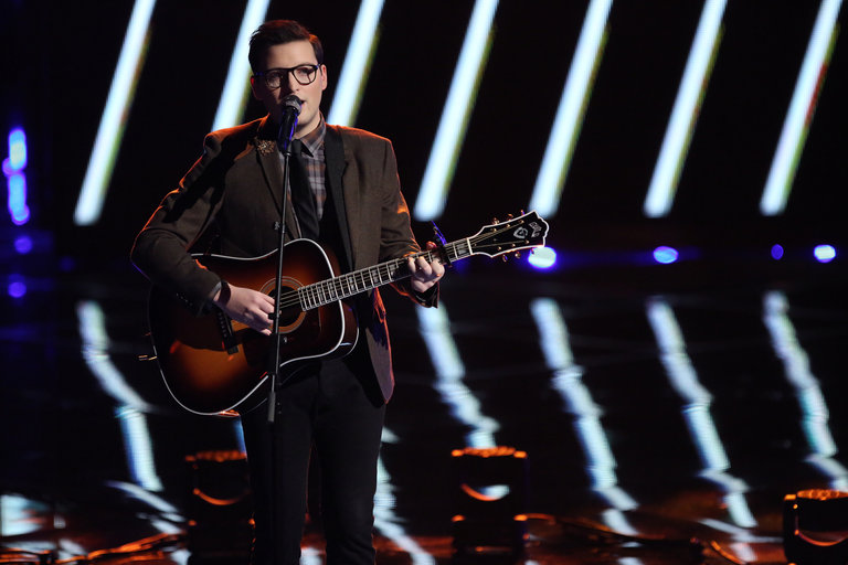 """THE VOICE -- """"Live Show"""" Episode 517A -- Pictured: James Wolpert -- (Photo by: Tyler Golden/NBC)"""